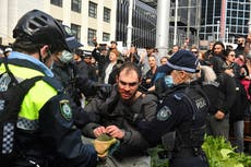 Dozens arrested as thousands protest lockdown restrictions in Sydney amid fresh surge in cases