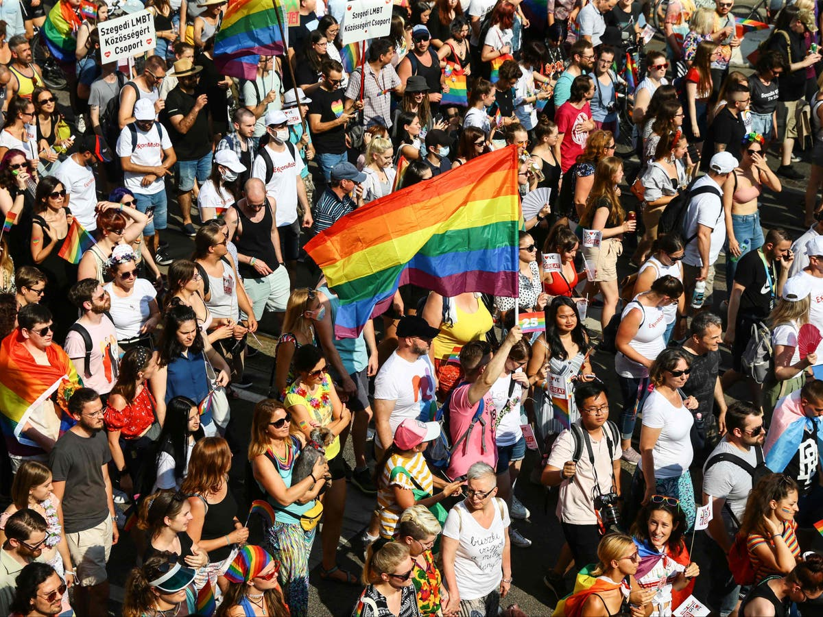 Thousands join Budapest Pride march against anti-LGBT+ law