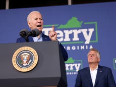 Biden dismisses hecklers at Virginia event: 'This is not a Trump rally. Let 'em holler'