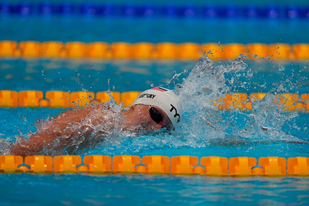 Ledecky sets up 1st Olympic showdown with Aussie rival