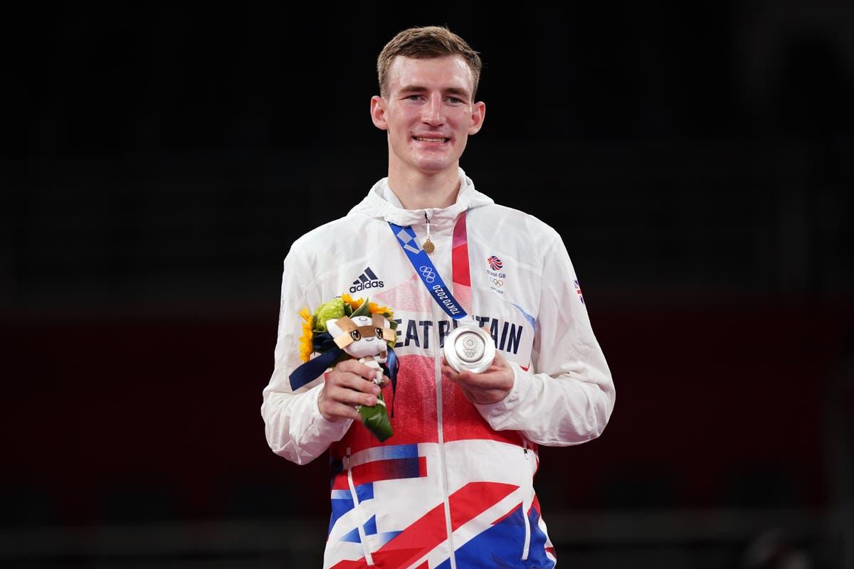 テコンドー決勝で敗北を喫したブラッドリー・シンデンが銀メダルを獲得