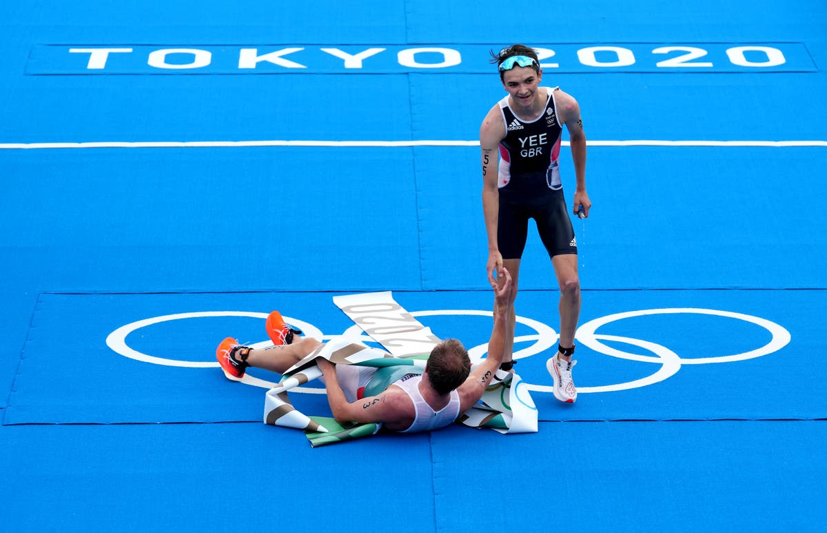 Britain's Alex Yee takes triathlon silver as Norway's Kristian Blummenfelt claims Olympic gold