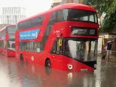 London floods – live: Hospital evacuated as Tube stations left underwater and 1,000 calls made to Fire Brigade