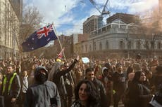 Australia Covid: Anti-lockdown protesters 'should be ashamed of themselves', premier says