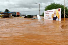 India flooding: Death toll soars past 150 as dozens more remain missing