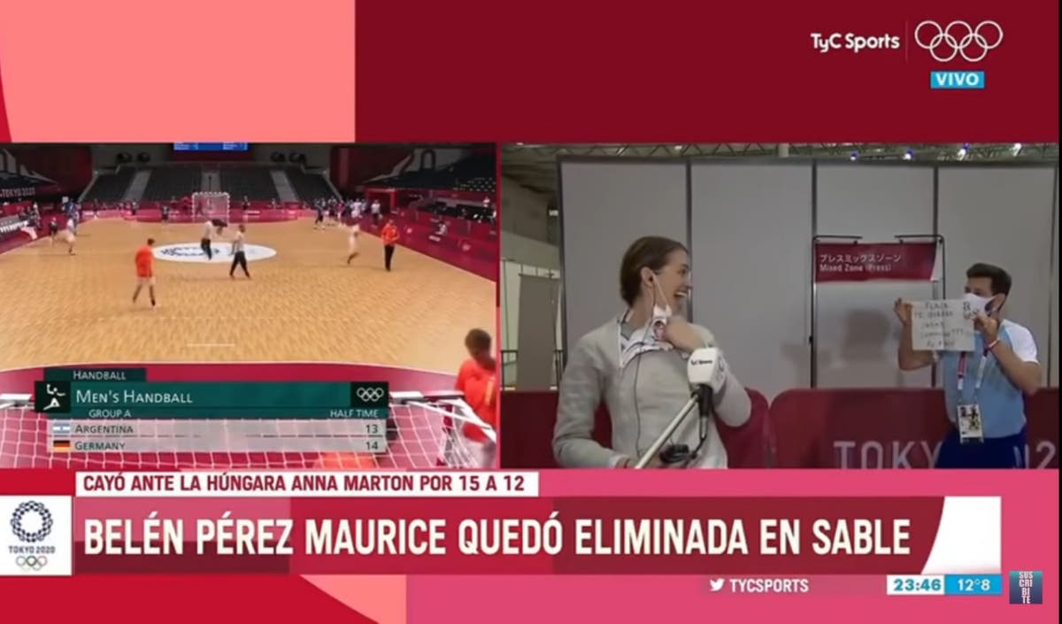 Argentinian fencer loses out on medal – but gets surprise proposal from her coach and partner