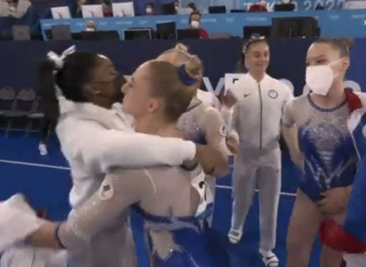 Simone Biles among first to congratulate ROC team on winning gold