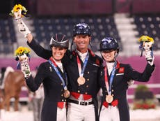 Fifth Olympic medal for Charlotte Dujardin as GB claim bronze in team dressage