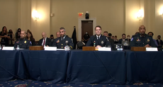 Capitol riot hearing – live: Officer compares Trump to 'hitman' as Taylor Greene presser descends into chaos