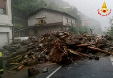 Italy: Lake Como towns hit by extreme weather