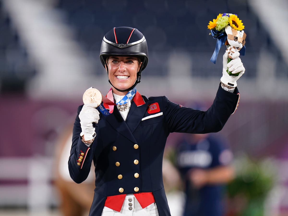 Charlotte Dujardin becomes most-decorated British female Olympian with dressage bronze