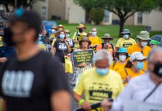 O'Rourke, protesters begin nearly 30-mile Texas voting march