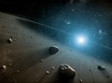 Scientists find two huge red rocks with 'complex organic matter' in the asteroid belt that shouldn't be there