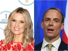 GMB host Charlotte Hawkins corrects Dominic Raab after he calls her 'Sophie' live on-air