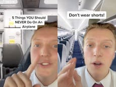 The surfaces you should never touch on an airplane, according to a flight attendant