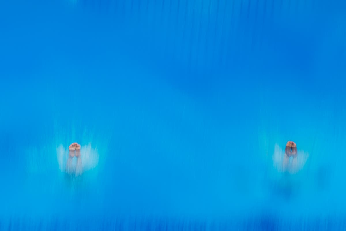 AP-foto's: Olympians in motion from above and below