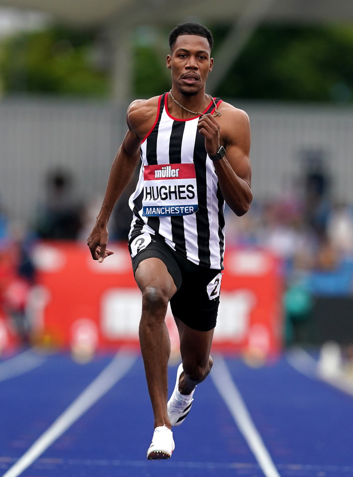 Zharnel Hughes eager to prove he can match world's best in 100 metres