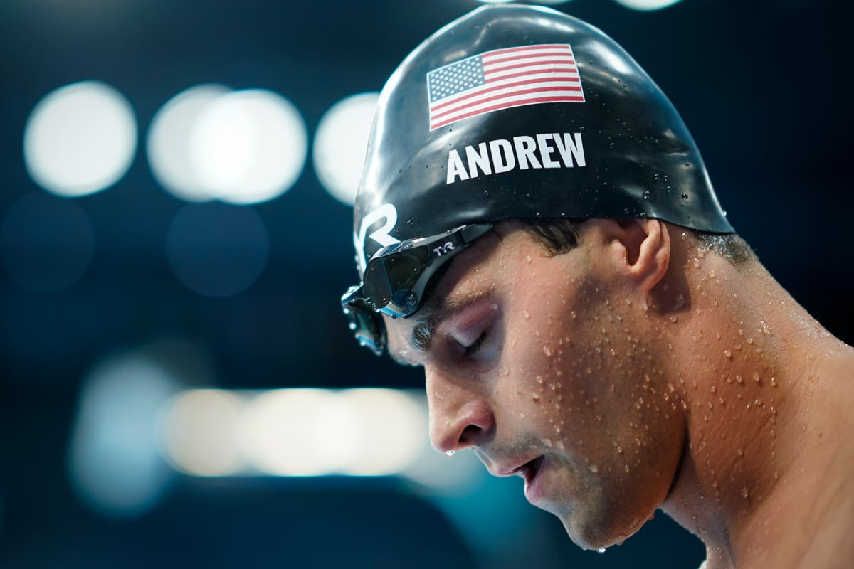 US swimmer Andrew goes maskless behind scenes at Olympics