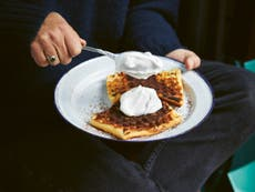 These toasted waffles are the perfect camping breakfast
