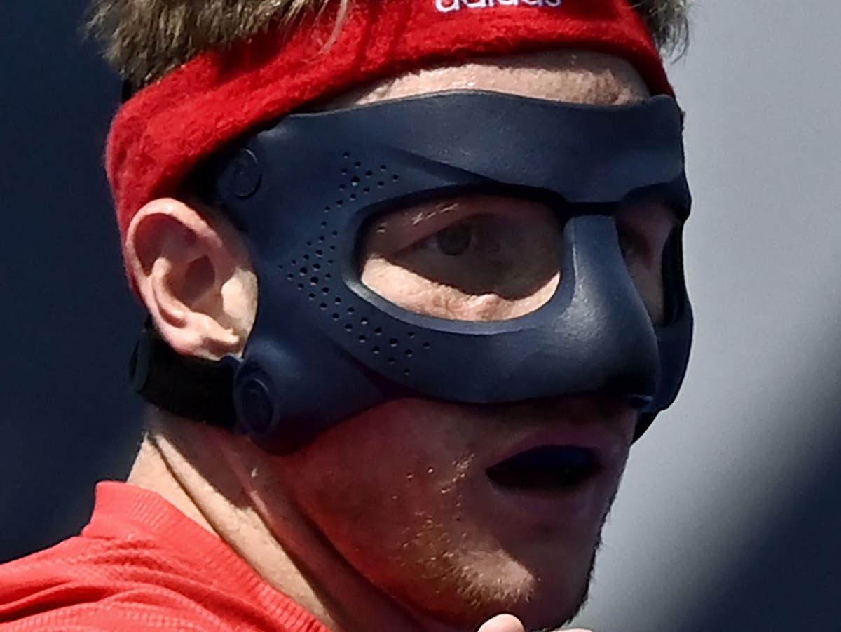 Why does Team GB hockey's Sam Ward wear a mask?
