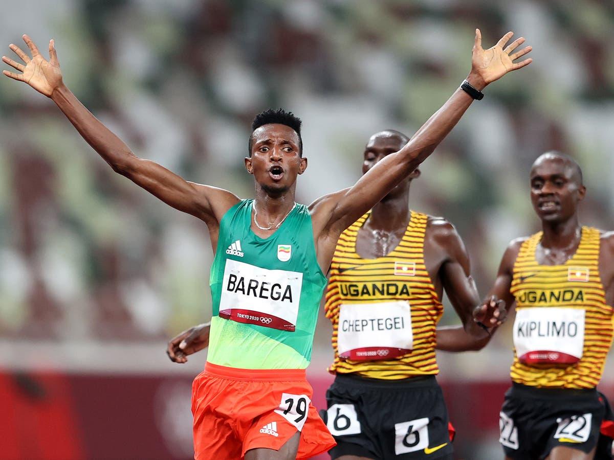 Ethiopia's Selemon Barega wins 10,000m gold in first athletics final at Tokyo 2020