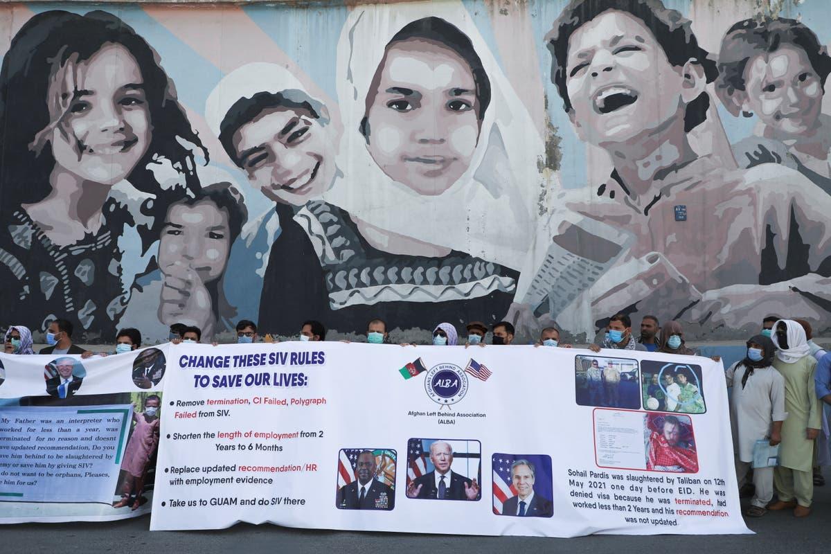 US flies 200 Afghan interpreters and family members to Virginia