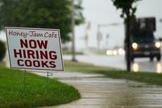 Job openings climb again to 10.9m as US companies struggle to fill vacancies