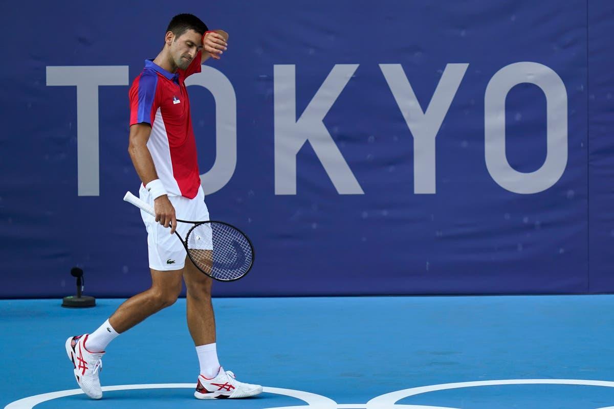 Novak Djokovic says his game 'fell apart' as singles Golden Slam dream ends