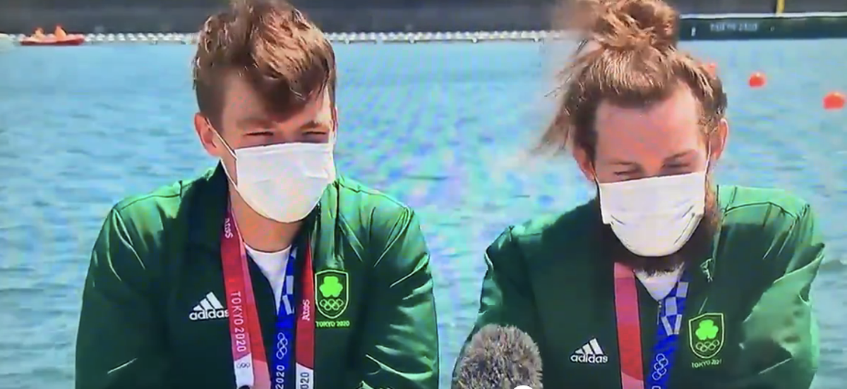 Irish rower's brilliant response to winning an Olympic gold medal goes viral