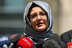 Fiancée of Jamal Khashoggi accuses US of 'hiding the facts' about murder of dissident Saudi journalist