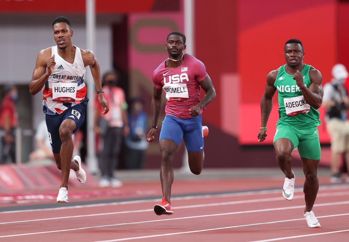 Trayvon Bromell se esgueira pelos 100 m da primeira rodada enquanto Andre de Grasse chia nas Olimpíadas de Tóquio