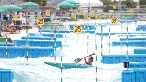東京オリンピック6日目の女子カヌースラローム決勝でのチームGBのマロリーフランクリン. 彼女は銀メダルを獲得し続けました