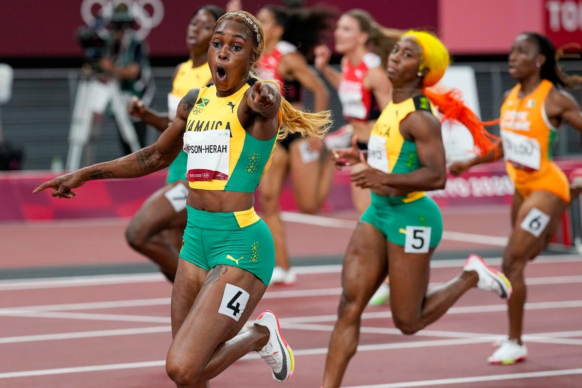 Thompson-Herah breaks Flo Jo's Olympic record in women's 100