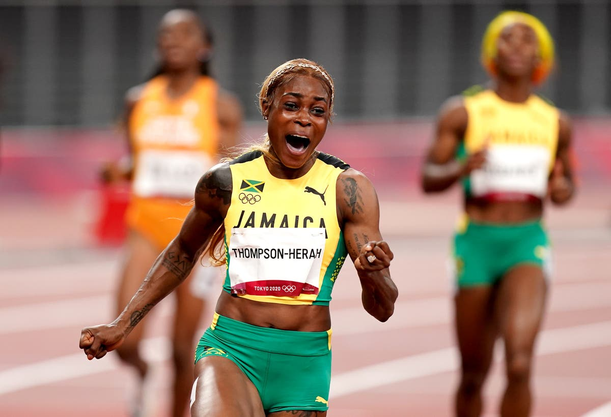 Elaine Thompson-Herah eyes world record after defending Olympic 100m title