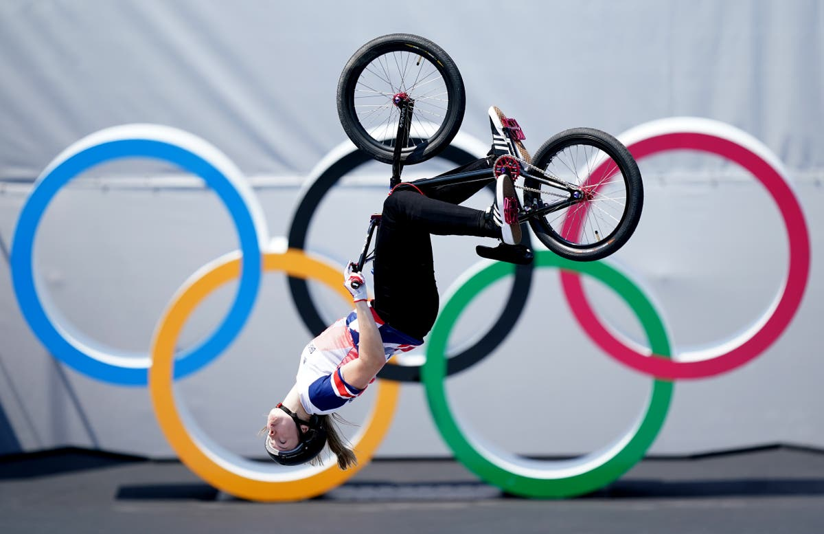 Gold for Charlotte Worthington and bronze for Declan Brooks in BMX freestyle