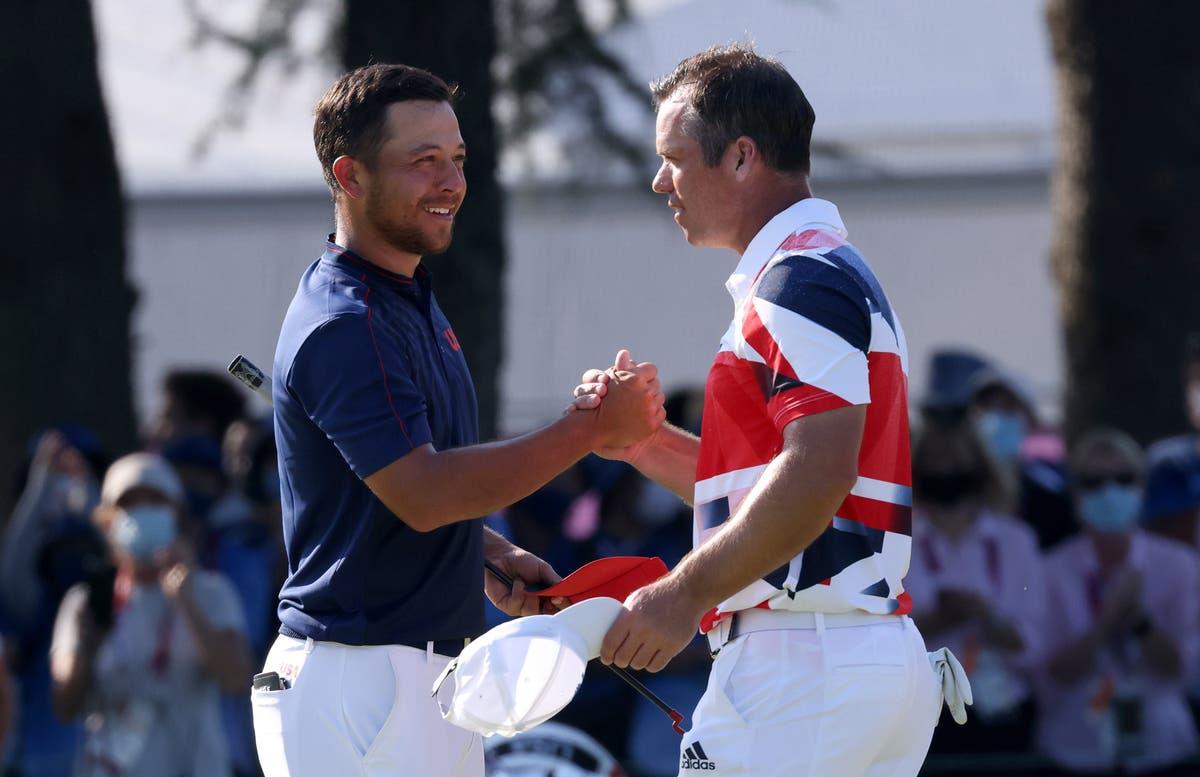 USA's Xander Schauffele wins golf gold before seven-man bronze playoff