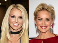 Britney Spears praised by Sharon Stone amid fan concern over 'bizarre' topless selfies