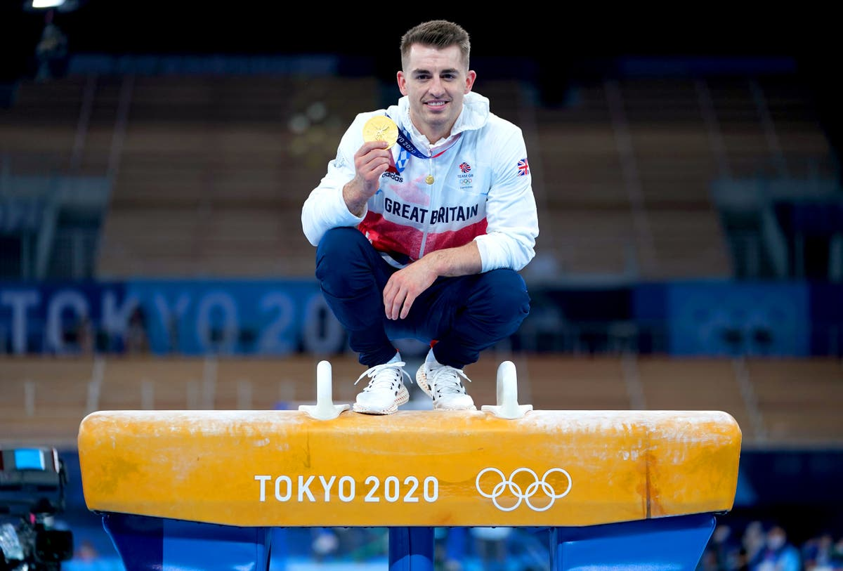 Max Whitlock overcomes unfamiliar nerves to retain Olympic pommel title