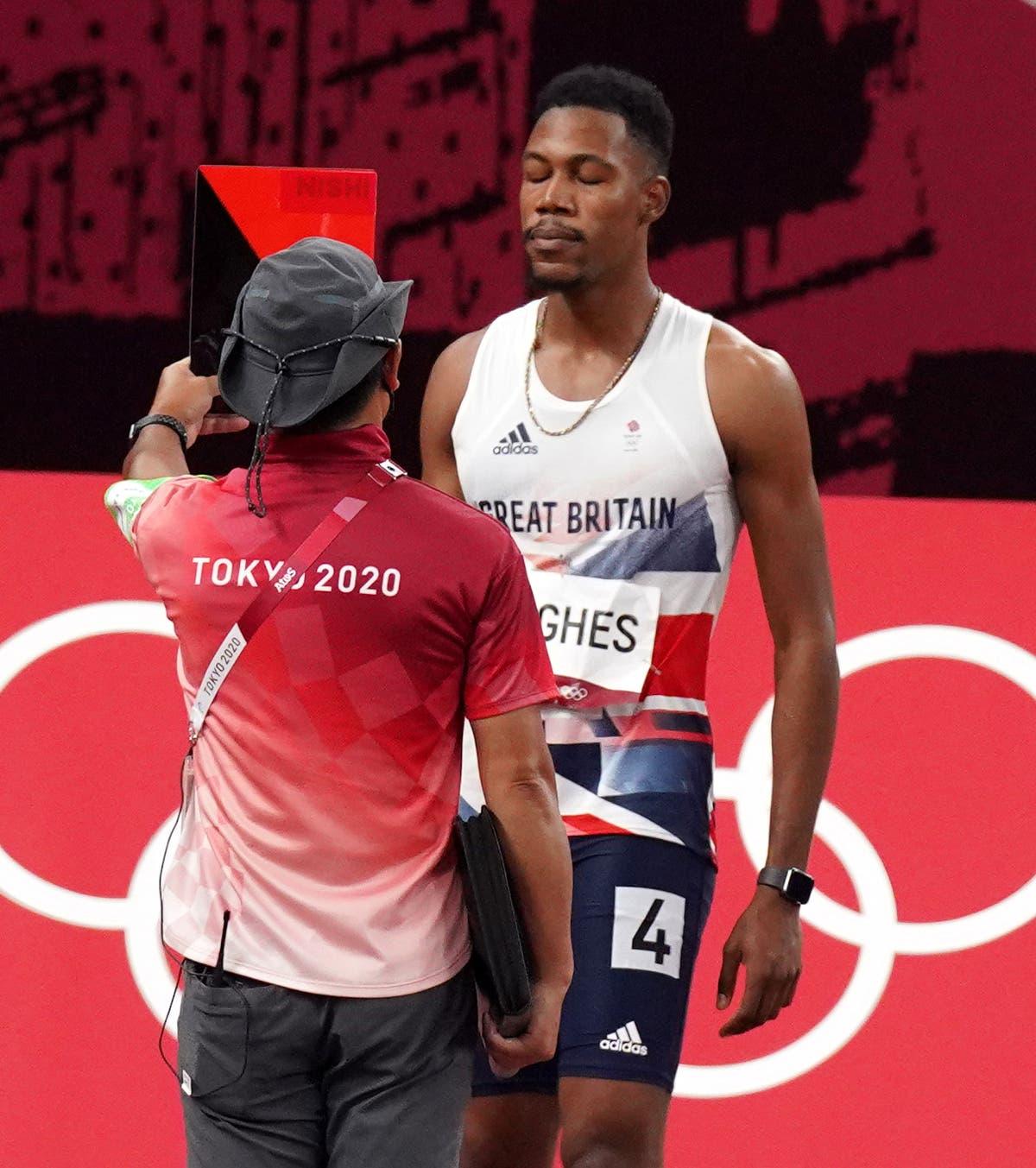 Zharnel Hughes blâme la crampe pour la disqualification finale du 100 m