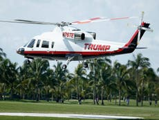 Donald Trump está vendendo outro de seus helicópteros, relatório diz