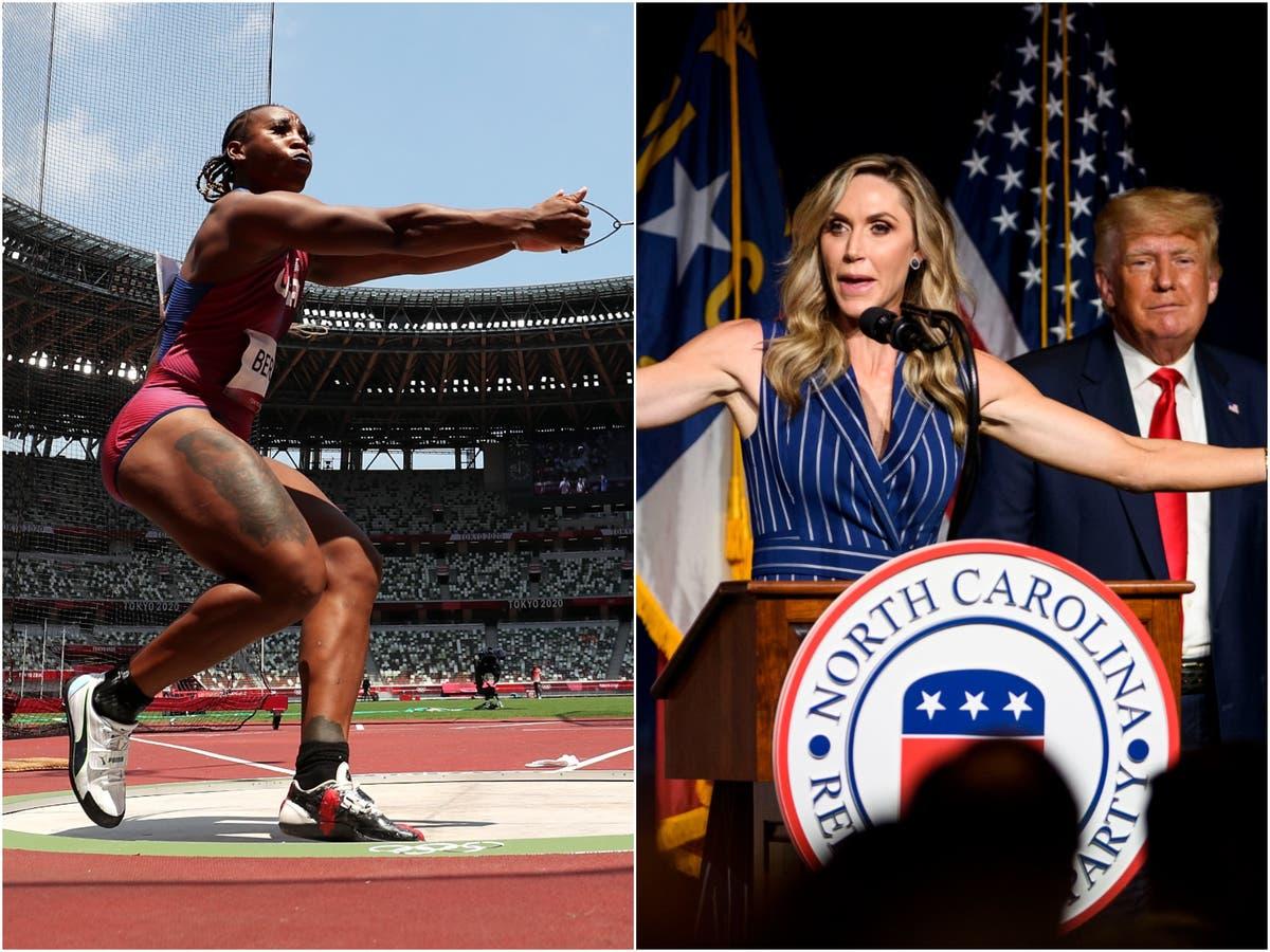 ララ・トランプは、米国のオリンピック選手グウェン・ベリーが人種抗議で敗北することを多くの人が望んでいると言って怒りを爆発させます