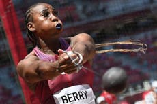 Gwen Berry: US hammer thrower raises fist in protest at social and racial injustice