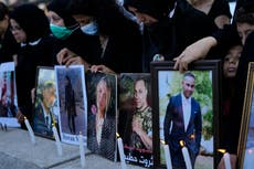 A year later, Beirut blast victims push leaders for justice