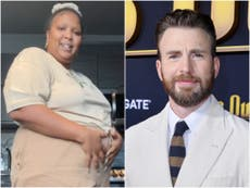 Lizzo and Chris Evans joke that they're expecting a child together