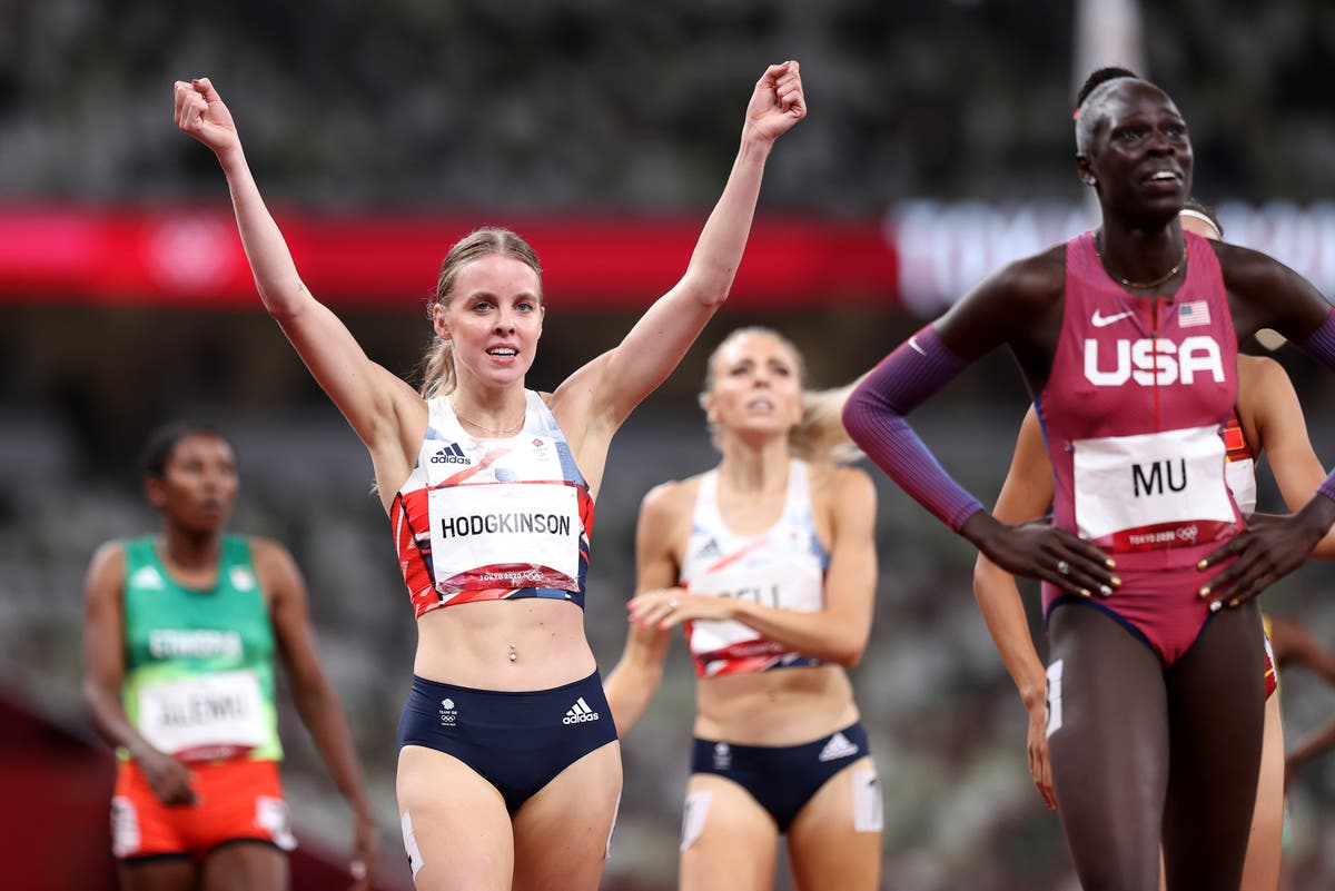 Keely Hodgkinson wins silver medal in 800m as Athing Mu takes dominant Olympic gold