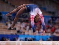 Simone Bilès: USA star savours return to Olympic action in taking bronze on beam