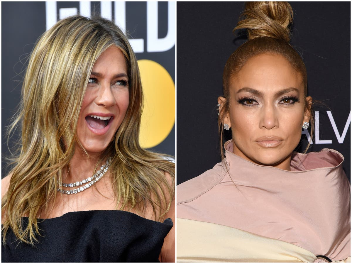 Jennifer Aniston claims Jennifer Lopez always looks 'seething' and 'mad at somebody' on the red carpet