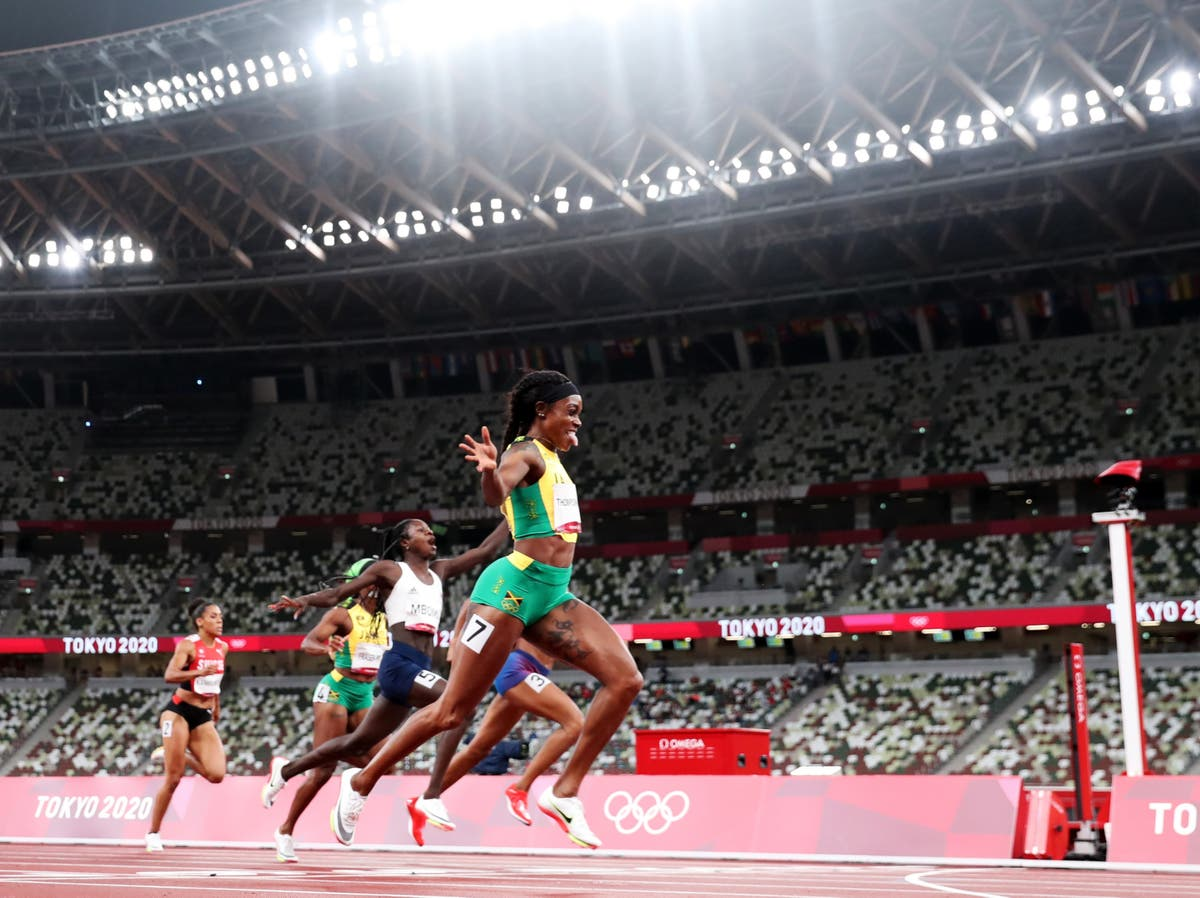 Elaine Thompson-Herah wins women's 200m final to complete Olympic double-double