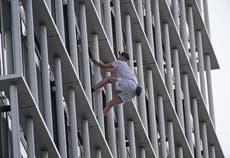 Free climber, 21, jailed for scaling Shard targets 36-storey London tower