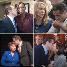 Cuomo shares bizarre photo montage defending himself as report concludes he sexually harassed 11 vroue